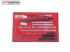 Auto Repair 3765 - Kit de limpieza para pistolas de 12 piezas.