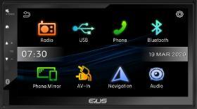 """Evus DD220R - Sistema multimedia EVUS 2 DIN con display táctil de 6,8"""""""