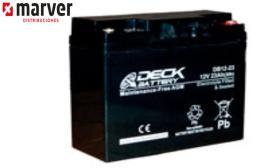 Teck europe DB12-23 - Batería de  23AH serie CYCLIC AGM