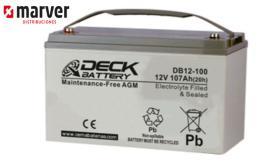 Teck europe DB12-180 - Batería de 190AH serie CYCLIC AGM
