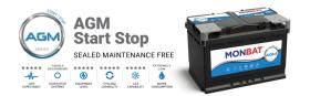 AGM Start- Stop  Monbat batteries