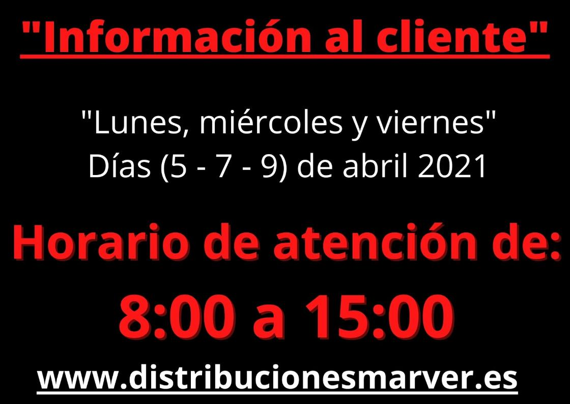 Información  al cliente.